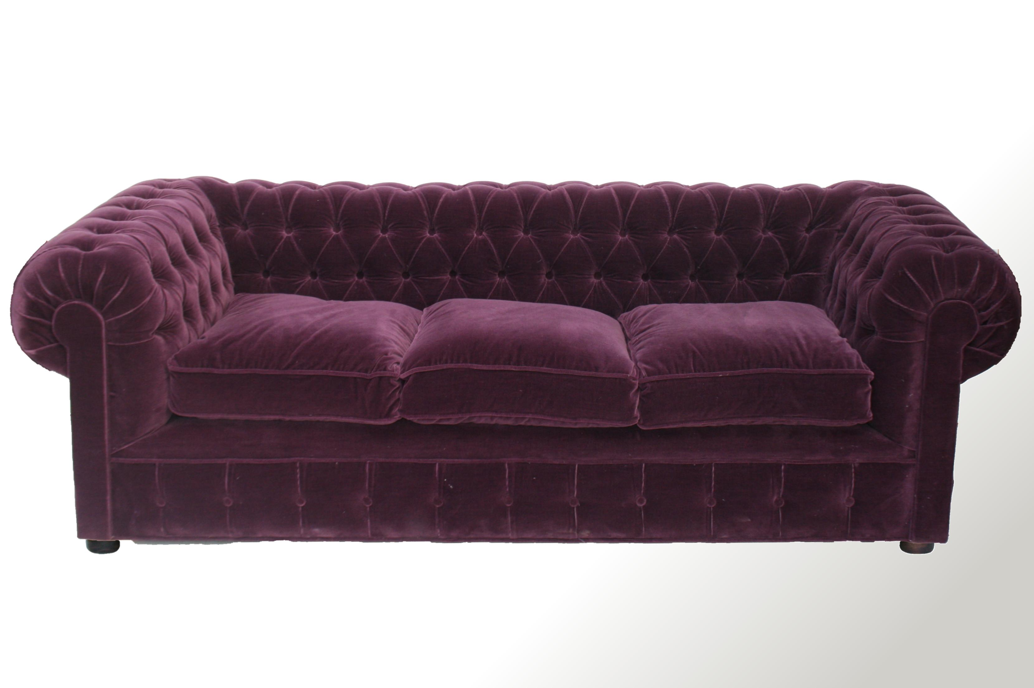 Sof chesterfield 3 cuerpos en pana chesterman a for Sofa 3 cuerpos akita