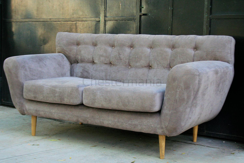 Sofa n rdico de 2 cuerpos tapizado en pana chesterman a - Sofa nordico ...